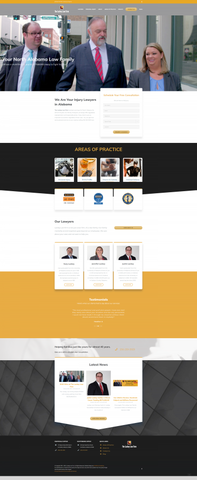 The Lackey Law Firm Web Design